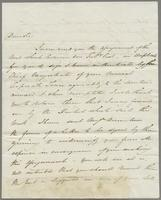 1823. 17 Feb. John Hopton Forbes to Christopher Jeaffreson , 1p. and reply, 3, 10, 11