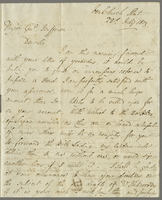 1819. 22 July. James Wildman to Christopher Jeaffreson...