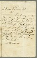 A Note of Indemnity to Jas Wildman for Paying Pickwoods draft and a note of thanks for doing ye same April 11. 1819 (docket title).