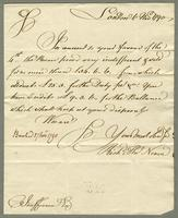 1790. 6 Nov. Richard and Thomas Neave to Christopher Jeaffreson...