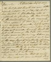 1819. 27 July. Robert William Pickwood to Christopher Jeaffreson...