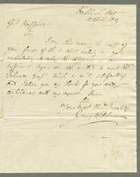 1819. 12 April. James Wildman to Christopher Jeaffreson...