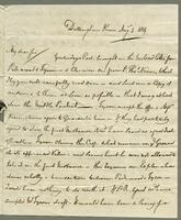 1819. 2 Aug. Christopher Jeaffreson to Joseph Hall...