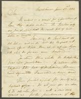 1822. 23 June. John Tyson to Christopher Jeaffreson...