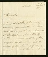 1818. 13 Jan. Thomas Neave to Christopher Jeaffreson...
