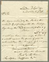 1793. 3 Sept. Richard and Thomas Neave to Christopher...