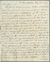 1819. 22 May Robert William Pickwood to Christopher Jeaffreson...