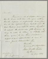 1823. 24 Nov. John Hopton Forbes to Christopher Jeaffreson...