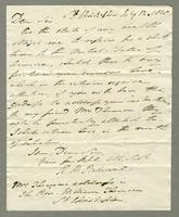 1818. 12 July. Robert William Pickwood to Christopher Jeaffreson...