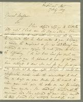 1819. 7 July. James Wildman to Christopher Jeaffreson...