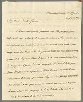 1822. 21 Aug. Joseph Hall to Christopher Jeaffreson...