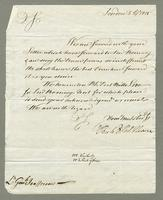 1815. 5 April. Richard and Thomas Neave to Christopher Jeaffreson...