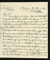 1818. 23 Oct. Christopher Jeaffreson to John Tyson...