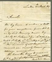 1819. 25 March. Richard and Thomas Neave to Christopher Jeaffreson..