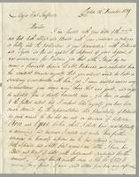 1819. 24 Dec. James Wildman to Christopher Jeaffreson, 2 p. and reply, 20 Jan. 1820