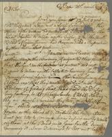 Clarke, Barnabas, fl. 1771. Boston, 25 March 1771. ALS to Joshua...