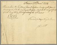 Majr. Brigade Browns Receipt for his pay to the 14th Decr...