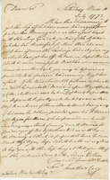 10 July 1773. ALS to Joshua Wentworth