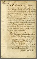 24 July 1775. Certificate of Incumbrances respecting Low Layton Plantation Jamaica (docket title)