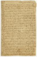 Memorandum of an Agreement... Newbury port, 6 Nov. 1775