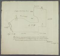 Diagram for M. Wm. Carmont Englishmans Bay Iune 1776 (docket title)