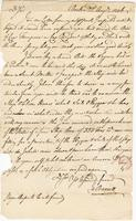 Boston, 22 Aug. 1776. ALS to Joshua Wentworth