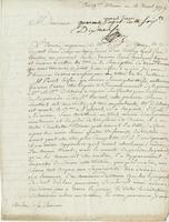 Ms. letter to Monsieur de la…, Martinique?, 11 Aug. 1779.