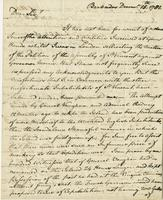 Barbados, 15 Dec. 1781. ALS to Hon. T. Townshend