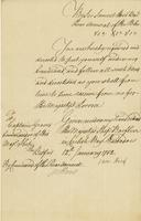 Sir Samuel Hood's Order to put myself under his Command 12th. Ianuary 1782. (docket title)