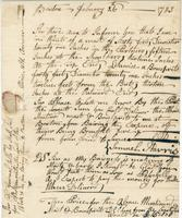 "Boston, 26 Feb. 1783. ALS to [Wentworth?], ""Sir these..."