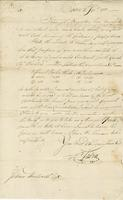 J., C., fl. 1783. Boston, 6 Sept. 1783 Ms. letter to Joshua Wentworth...