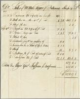 October 12, 1819. Sales of 20 Hhds Sugar per Brittania; Thomas Sharpe @ St. Kitts on account of Major Genl Jeaffreson