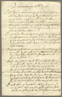 Graeme, David, f. 1767-1798. [Copy] Instructions to Mr. P. Carrick... (docket title)