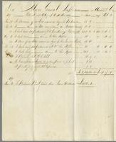 30th November, 1819. Major General Jeaffreson in account current with James Wildman