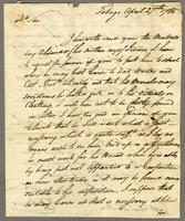 "Tobago April 27th 1785. ALS to ""Capt. Eben. Ricker, Scarbro'"""