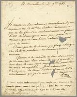 Versailles, 27 Nov. 1785. Ms. letter to Desligneris, signed