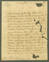 Versailles, 17 Feb. 1786. Ms. letter to Desligneris, signed