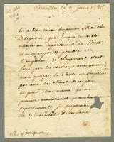 Versailles, 9 June 1786. Ms. letter to Desligneris, signed