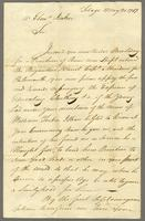 Tobago, 20 May 1787. ALS to Captain Ebenezer Ricker, 2 p. 32 cm...