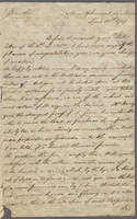 Mountpleasant, Nevis, 10 June 1787. ALS to [Sir George Douglas]...