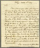 Tobago, 8 Oct. 1787. ALS to Captain Ebenezer Ricker