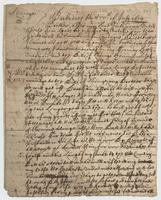 Letter to Arthur Sparke, Barbadoes, 15 July 1654.