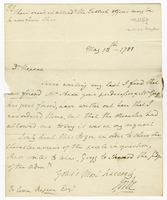 Dominica, 13 May 1788. Ms. letter to Evan Nepeat, signed