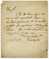 "24 April 1790. ALS to ""E. Stewart Esqre Aldermanburg"" (integral..."