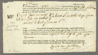 Bill of lading, Bordeaux, 27 April 1790. Printed form, blanks filled...