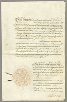 Affidavit, signed by William Pickett, mayor of London, May 5, 1790, regareing John Lee