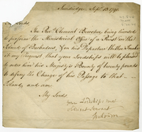Sundridge, 13 Sept. 1790. Ms. letter, signed