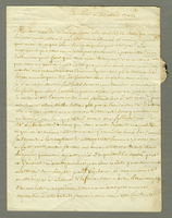 Paris, 23 April 1792. Ms. letter to Pocquet de Puilhery, signed