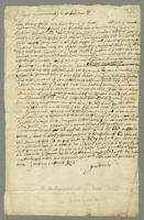 Coppy of Cap Samewell Pains laste letter by thomas fleete Mas of the Suckses (docket title)