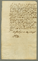 "Affidavit,... Martinique, 22 July 1795, ""Je declare..."